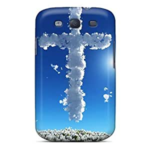 CyzmNJE5354tmZqz Tpu Phone Case With Fashionable Look For Galaxy S3 - Cross On Blue Sky Hd by supermalls