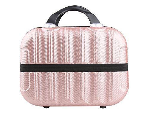 Genda 2Archer Hard Shell Cosmetic Carrying Case Small Hardshell Travel Hand Luggage (Rose Gold) by Genda 2Archer