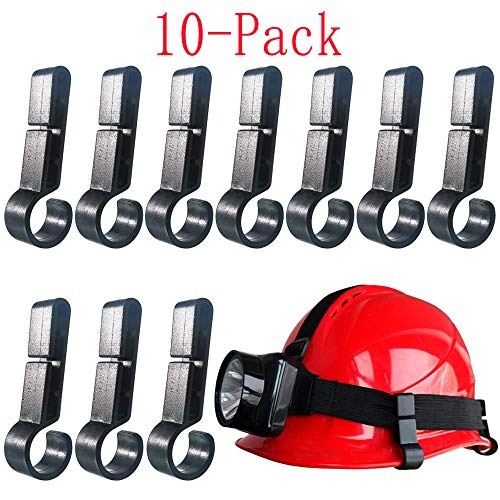Helmet Clips for Headlamp,Headlamp Hook,hard hat Light Clip,Helmet Clip,Hard Hat Accessory Easily Mount Headlamp on Narrow-Edged Helmet (Pack of 10) ()