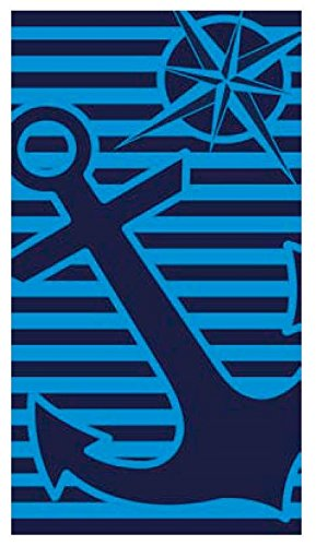 Toalla playa 100% algodon egipcio 90 x 170 cm (ancla azul): Amazon.es: Hogar
