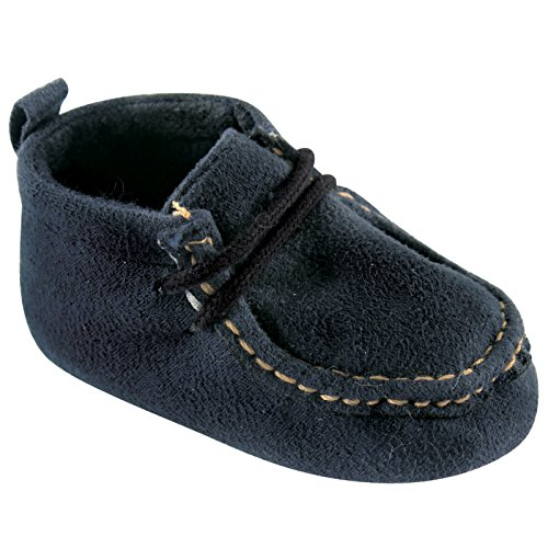Luvable Friends Boy's Faux Suede Boot (Infant), Navy, 12-18 Months M US (Charlie Brown Costume Baby)