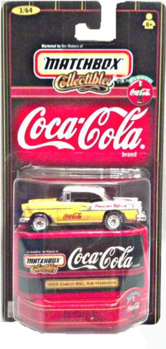 - 1998 - Mattel - Matchbox Collectibles - Coca-Cola - 1955 Chevy Bel Air Hardtop - 1:64 Scale - Die Cast Metal - New - OOP - Collectible