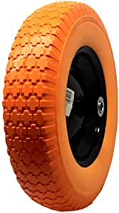 """UI PRO TOOLS 16"""" Flat Free Tires Wheels with 5/8"""" Center - Solid Tire Wheel for Dolly Hand Truck Cart/All Purpose Utility Tire on Wheel"""