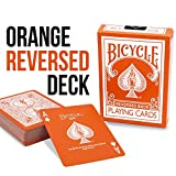 Magic Makers Orange Reversed Deck Bicycle Playing Cards - Includes Extra Magic Trick Cards