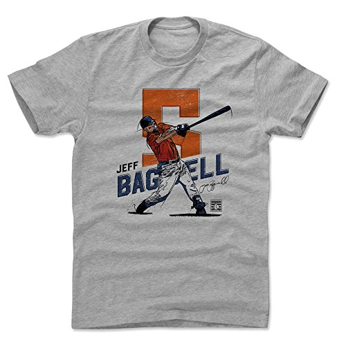 - 500 LEVEL Jeff Bagwell Cotton Shirt (Large, Heather Gray) - Houston Astros Men's Apparel - Jeff Bagwell Swing O