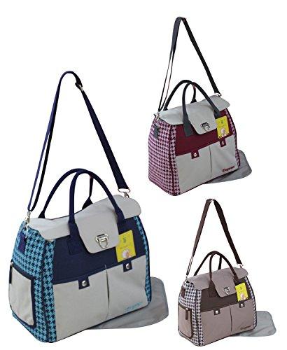 GMMH 2piezas bolso cambiador Bolsa de bolsa para pañales Baby funda Selección de Colores 2150a chocolate azul/gris