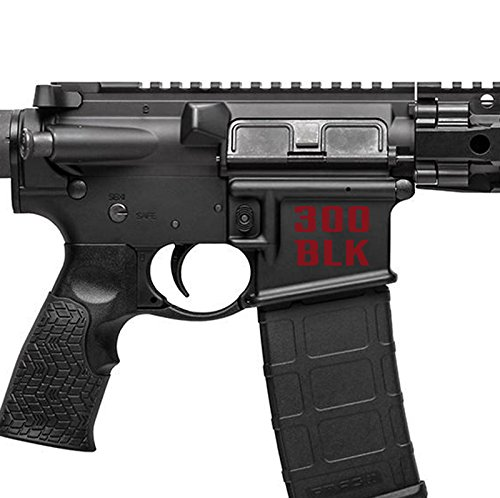 AR15 Lower Decals - 300 Blackout BLK (Blood Red / Maroon)