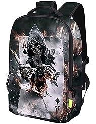 Cool Skull Boys Girls School Bookbag Travel Laptop Backpacks Boys Girls