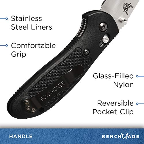 Benchmade - Griptilian 551 Knife with CPM-S30V Steel, Drop-Point Blade, Plain Edge, Satin Finish, Black Handle by Benchmade (Image #5)