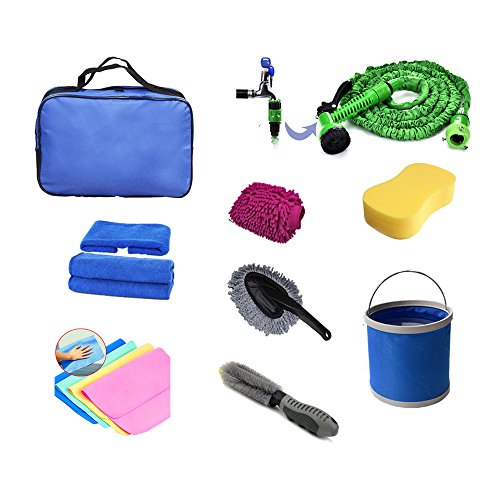 Daygos Family Car Wash Kits-9 Piece Car Wash Set Cleaning kit with Oxford Pack