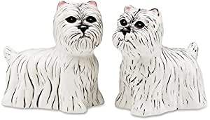 "3.5"" Rescue Me Now Westie Dog Salt and Pepper Shaker Set"