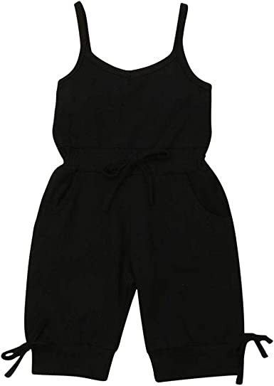Toddler Little Girls Striped Halter Romper Off Shoulder Ruffle Straps Jumpsuit Overall Shorts Summer Outfit