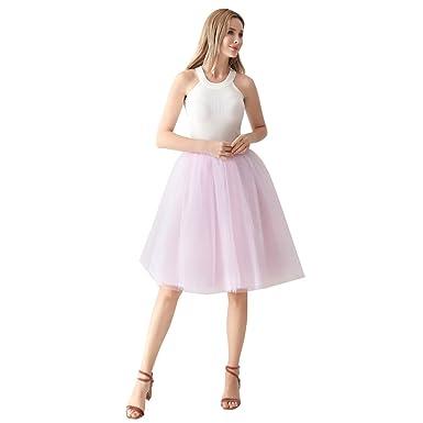 1055388a5980ee ShowYeu Femmes A-Ligne 60 CM Tutu Tulle Jupon Robe de Fête Mi-Mollet  Vintage Demoiselles Party Dress Balle De Bal
