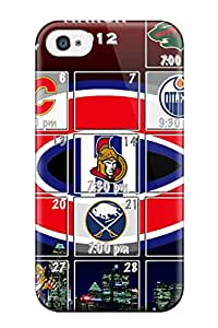 Premium Montreal Canadiens (3) Back Cover Snap On Case For Iphone 4/4s