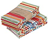 Ruvanti Cloth Napkins 12 Pack(100% Cotton 20' X 20') Dinner Napkins, Soft & Comfortable Cotton Napkins. Multi Color Luxurious Linen Napkins for Family Dinners, Weddings, Cocktail Parties & Home Use.