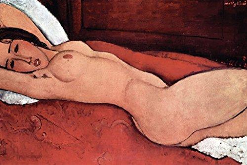 "Buyenlarge Reclining Nude by Amedeo Modigliani Wall Decal, 24"" H x 16"" W"