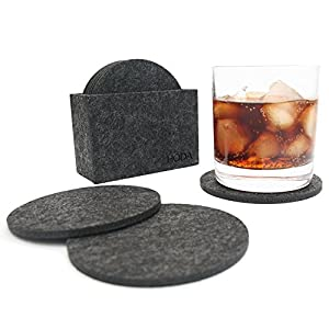 Felt coasters with holder drink coasters absorbent coasters for drinks hoda cup mat - Drink coasters absorbent ...