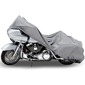 "NEH SUPERIOR 4 LAYER MATERIAL WEATHERPROOF MOTORCYCLE BIKE COVER COVERS : FITS UP TO LENGTH 107"" - ALL CRUISER BIKES METRIC TOURING HARLEY DAVIDSON YAMAHA HONDA SUZUKI KAWASAKI DUCATI TRIUMPH BUELL"