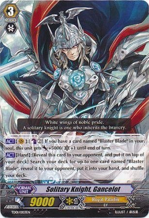 Cardfight!! Vanguard TCG - Solitary Knight, Gancelot (TD01/003EN) - Trial Deck 1: Blaster Blade