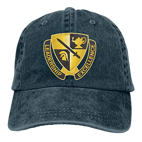 (US Army ROTC Cadet Command Unit Crest Mens Cotton Adjustable Washed Twill Baseball Cap Hat)