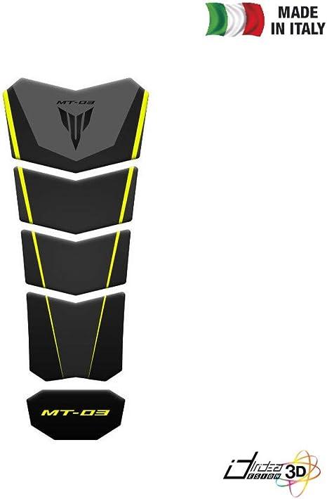 autocollant protège réservoir couleur carbone YAMAHA 16cm x 11cm PROTEGYAM