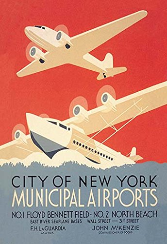Buyenlarge 'City of New York Municipal Airports-WPA' Paper Poster, 20 by 30-Inch