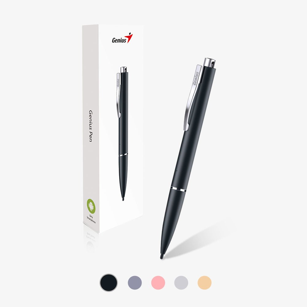Genius Pen GP-B200A - Incredible Smooth and Accurate Touch Pen with Retractable Hard Nib & Long-lasting Rechargeable Battery for Most Android Smartphones, Tablets with Touch Screens - Black