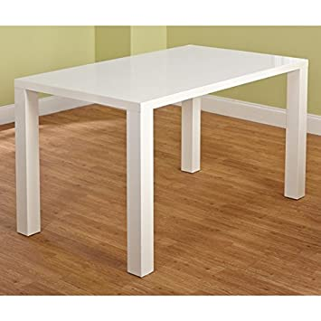 simple living glossy white finished classic rectangular shaped dining table inches high 36 wide outdoor 70cm 80 cm glass