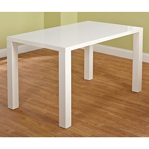Simple Living Felix Glossy White Finished Classic Rectangular Shaped Dining Table (29.75 Inches High X 55.1 Inches Wide (White Dining Classic Table)