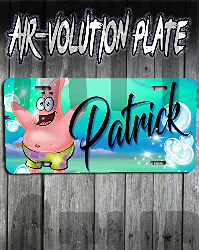 Personalized Airbrush Patrick Sponge bob License Plate Tag]()