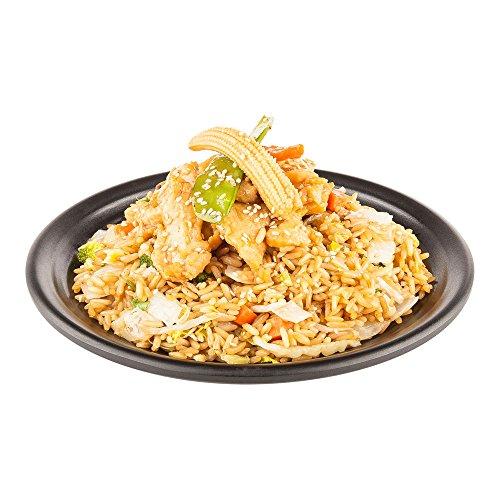 Black Melamine Round Plate - Round Melamine Plate, Black Melamine Plate - 8 Inch Plate - Japonais Freeform Design - 10ct Box - Restaurantware