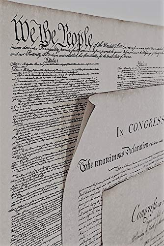 Declaration of Independence 23 X 29, Constitution of the U.S. 23 X 29, Bill of Rights 23 X 29 Posters (The Us Constitution Was Written In 1776)
