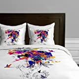 Deny Designs  Holly Sharpe Tropical Girl Colourway Duvet Cover, Twin/Twin XL