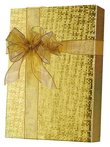 8.5' X 11' Box (E9521E Warm Gold Spun Sheen/Embossed, 18 inch Wide x 417 feet Half Ream)