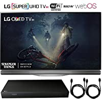 LG OLED55E7P - 55 E7 OLED 4K HDR Smart TV (2017 Model) + 4K Ultra-HD Blu-Ray Player w/ 3D Capability + 2x 6ft High Speed HDMI Cable