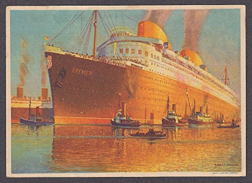 Norddeutscher Lloyd Bremen ocean liner Bremen continental postcard (Bremen Ocean Liner)