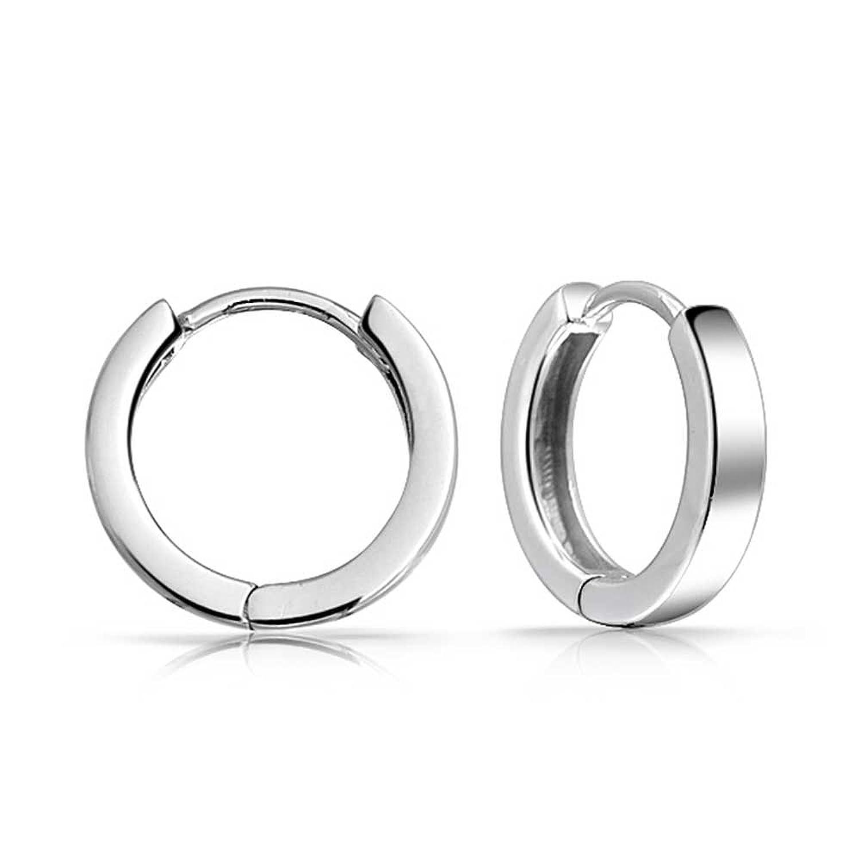 Amazon.com: Bling Jewelry Mens Mini Sterling Silver Huggie Hoop ...