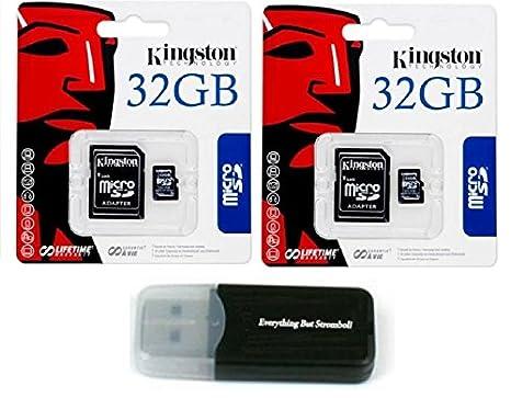 2 unidades de Kingston 32 GB MicroSD HC Clase 4 TF microSDHC con ...