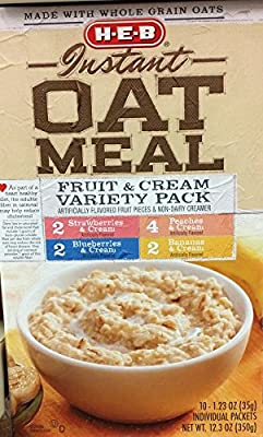 HEB Instant Oatmeal 10 paquetes individuales por caja (Pack ...