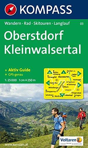 Oberstdorf, Kleinwalsertal: Wandern / Rad / Skitouren / Langlauf. GPS-genau. 1:25.000