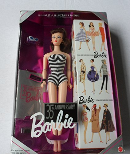 Original 1959 Barbie Doll & Package - Special Edition Reproduction - 35th Anniversary Barbie (Brunette)