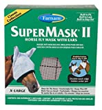 Central Garden & Pet 100504653 SuperMask II Horse Fly Mask, With Ears, XL - Quantity 12