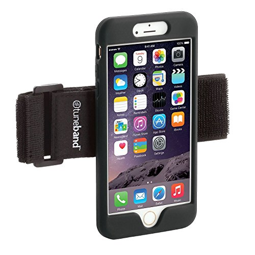 TuneBand for iPhone 8, Premium Sports Armband with Two Straps and Two Screen Protectors, Black (Black)