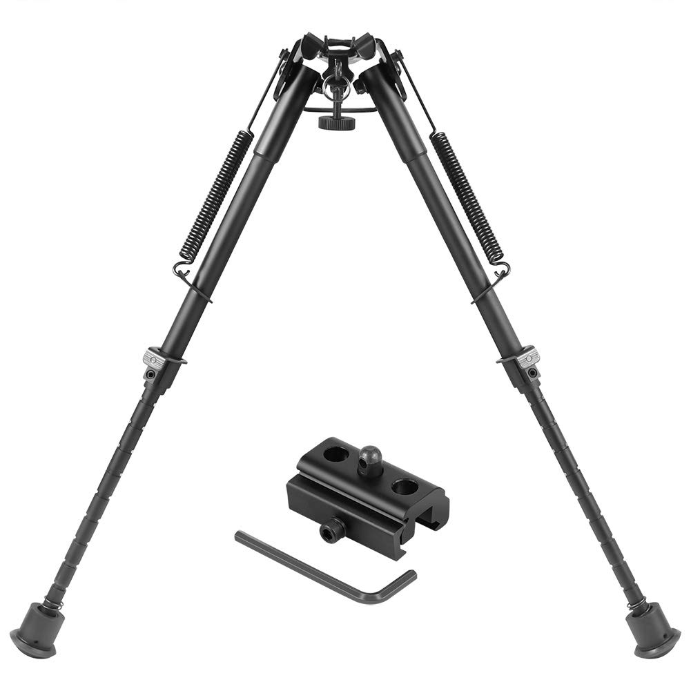 Twod Hunting Rifle Bipod - 9 Inch to 13 Inch Adjustable Super Duty Tactical Rifle Bipod + Rail Mount Adapter by Twod