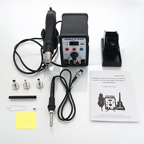 2in1 8786D SMD Soldering Rework Station Hot Air Gun Solder Iron Welder LCD Display (YIHUA 8786D)