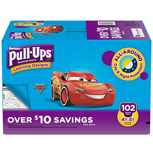Branded Huggies Pull-Ups Training Pants For Boys - Diaper Size 4T/5T Boys ( 102 Ct.) (Bulk Qty at Whoesale Price, Genuine & Soft Baby diaper) by Product of Huggies