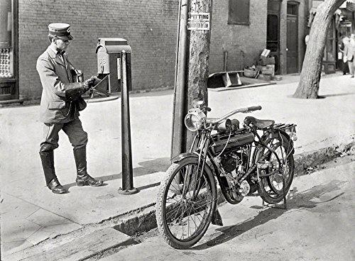 Vintage Flying Merkel Motorcycle 11 X 14