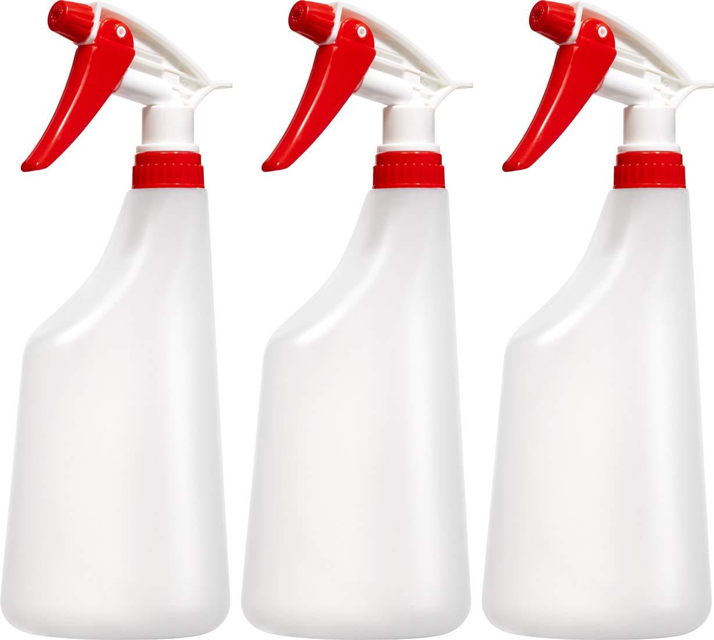 空のプラスチックスプレーボトル 22オンス グラデュエット 化学製品やあらゆる洗浄液用 完全に調節可能なヘッドスプレー B07BXXC9S8  Pack of 3