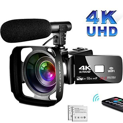 SAULEOO 4K Camcorder Video Camera