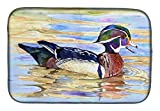 Caroline's Treasures 8831DDM Wood Duck Dish Drying Mat, 14'' x 21'', Multicolor